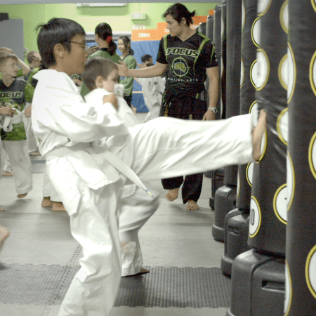 Kids training in martial arts classes in Brisbane & Gold Coast