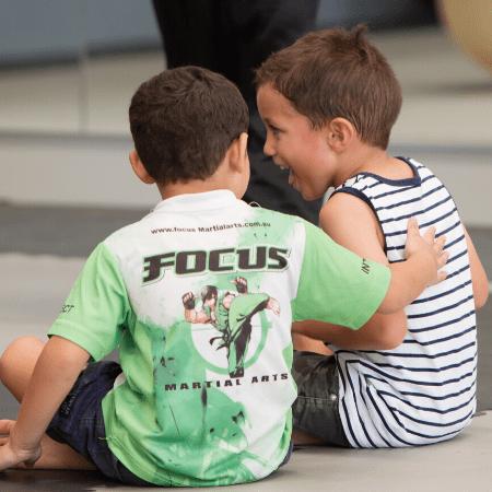 preschool martial arts lesson in Brisbane & Gold Coast