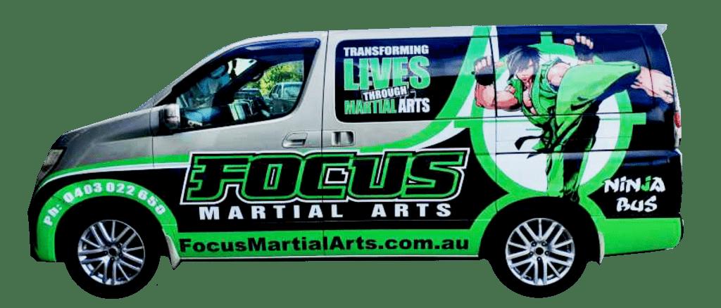 FMA Van 2 1024x438, Focus Martial Arts Classes Brisbane, Queensland
